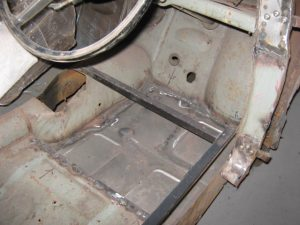 Austin A30 Drivers' Side Floor Pan replaced by SVS